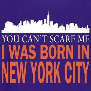 Newyork -you can't scare me was I born in New york - Unisex Fleece Zip Hoodie by American Apparel