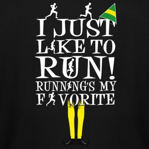 run- I just like to run running's my favorite - Men's Tall T-Shirt
