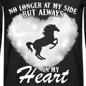 heart- no longer at my side but always in my heart - Men's Long Sleeve T-Shirt