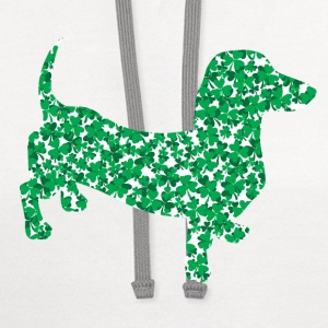 Irish Good Luck Clover - Contrast Hoodie