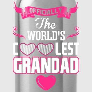 Officially The Worlds Coolest Grandad T-Shirts - Water Bottle