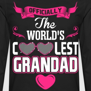 Officially The Worlds Coolest Grandad T-Shirts - Men's Premium Long Sleeve T-Shirt