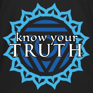 Know Your Truth Throat Chakra Hoodie - Men's Premium Long Sleeve T-Shirt
