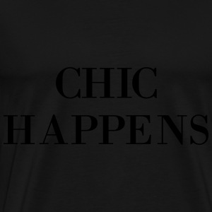 AD Chic Happens Bags & backpacks - Men's Premium T-Shirt