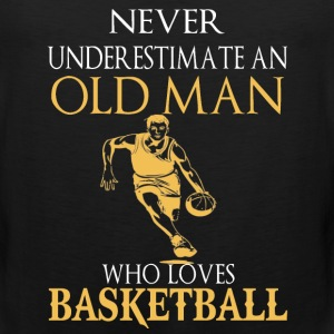 Basketball – An old man who loves basketball - Men's Premium Tank