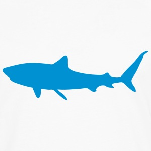shark shadow figure 1 T-Shirts - Men's Premium Long Sleeve T-Shirt