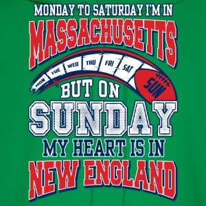 On sunday my heart is in New England - Men's Hoodie