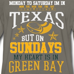 Green Bay – On Sundays my heart is in Green Bay - Men's Premium Long Sleeve T-Shirt