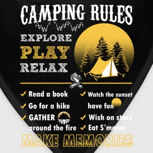 Camping rules – Time to relax and explore - Bandana