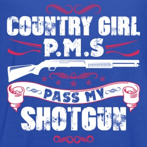 Country girl P.M.S pass my shortgun - Women's Flowy Tank Top by Bella