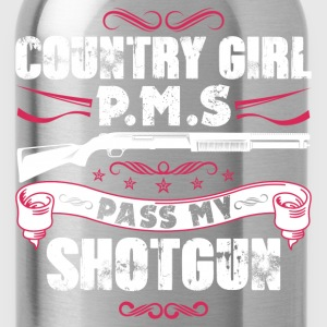 Country girl P.M.S pass my shortgun - Water Bottle
