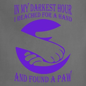 In darkest hour I reached a hand and found a paw - Adjustable Apron