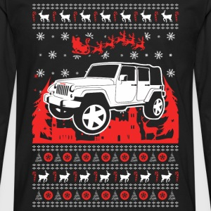 Jeep Christmas Sweater - Men's Premium Long Sleeve T-Shirt