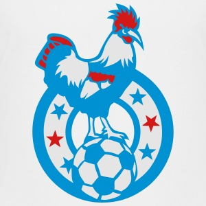 soccer ball emblem rooster symbol france Kids' Shirts - Toddler Premium T-Shirt