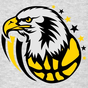 basketball eagle cartoon drawing face Long Sleeve Shirts - Men's T-Shirt