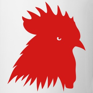 rooster silhouette shadow 702 T-Shirts - Coffee/Tea Mug
