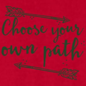 choose your own path with arrow Mugs & Drinkware - Men's T-Shirt by American Apparel