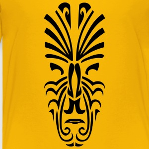 maori tribal tattoo mask 6 ethnic mask Kids' Shirts - Toddler Premium T-Shirt