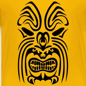 maori tribal tattoo mask 5 ethnic mask Kids' Shirts - Toddler Premium T-Shirt