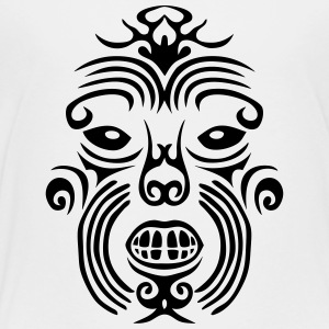 maori tribal tattoo mask 7 ethnic mask Kids' Shirts - Toddler Premium T-Shirt