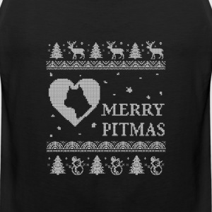 Pitbull lovers - Merry pitmas - Men's Premium Tank