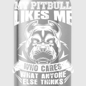 Pitbull lovers - Who cares what anyone else thin - Water Bottle