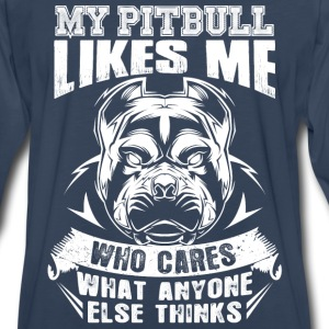 Pitbull lovers - Who cares what anyone else thin - Men's Premium Long Sleeve T-Shirt