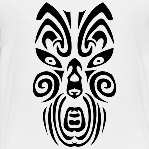 maori tribal tattoo mask 12 ethnic mask Kids' Shirts - Toddler Premium T-Shirt