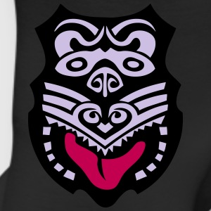 maori tribal tattoo mask 14 ethnic mask Long Sleeve Shirts - Leggings