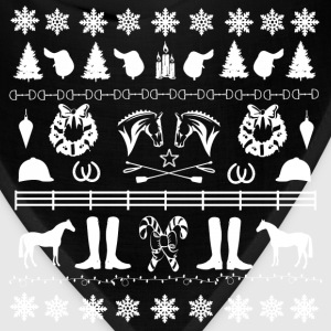 English horse - Ugly christmas - Bandana