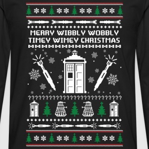 Doctor Who - Wibbly wobbly timey wimey - Men's Premium Long Sleeve T-Shirt