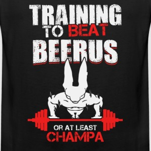 Training to beat Beerus or at least Champa - Men's Premium Tank