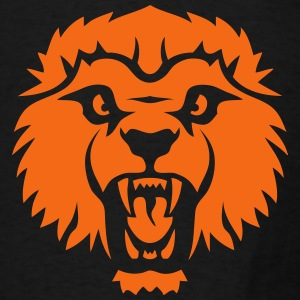 wild head lion roars 6102 Hoodies - Men's T-Shirt