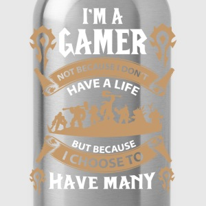Warcraft gamer-I choose to have many lives - Water Bottle