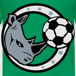 rhinoceros soccer sports logo Kids' Shirts - Toddler Premium T-Shirt