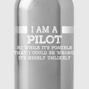 Pilot-It's highly unlikely awesome t-shirt - Water Bottle