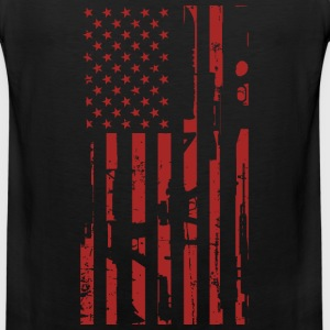 Guns- Guns flag t-shirt for American lovers - Men's Premium Tank