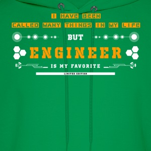 Engineer-Engineer is my favorite in my life - Men's Hoodie