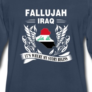 Fallujah - Fallujah is where my story begins - Men's Premium Long Sleeve T-Shirt