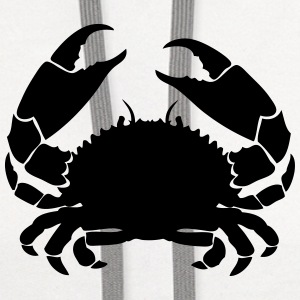 crab cancer 1 T-Shirts - Contrast Hoodie
