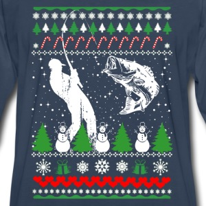 Fisher-Fisher Christmas ugly sweater for fisher - Men's Premium Long Sleeve T-Shirt
