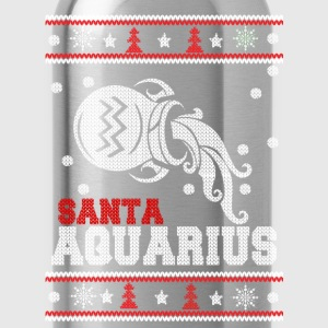 Santa Qquarius-Ugly Christmas sweater for Aquarius - Water Bottle