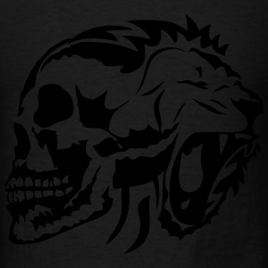 tribal dead head lion skull 1 Long Sleeve Shirts - Men's T-Shirt
