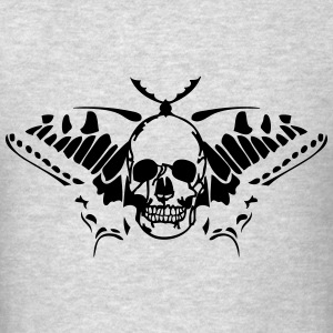 butterfly tribal butterfly skull death Long Sleeve Shirts - Men's T-Shirt