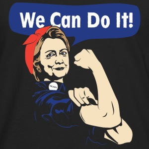 We can do it-Hilary can do it tshirt for supporter - Men's Premium Long Sleeve T-Shirt