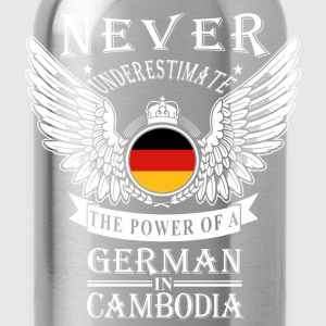 German in Cambodia-Never underestimate his power - Water Bottle
