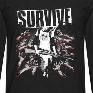 Survive-Awesome t-shirt for fans of this game - Men's Premium Long Sleeve T-Shirt