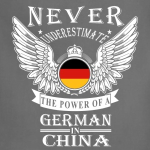 German in China-Never underestimate his power - Adjustable Apron