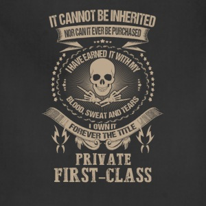 private first-class - I've earned it with my blood - Adjustable Apron
