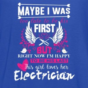 Electrician-Right now I'm happy to be his last - Women's Flowy Tank Top by Bella